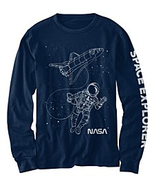 Little Boys Spacewalk Long Sleeve T-shirt