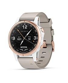Unisex D2 Delta Premium GPS Aviator Beige Strap Watch 51mm
