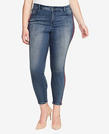 Women's Regular Skinny Hidden Message Jeans