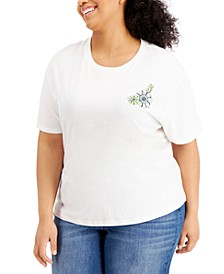 Trendy Plus Size Printed-Back T-Shirt