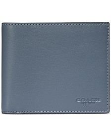 Men's 3 in 1 Colorblock Leather Wallet