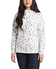 Women's Foldover Neck Snake Silhouettes Top