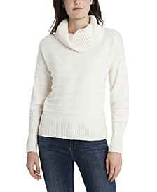 Women's Textured Stripe Cowl Neck Sweater