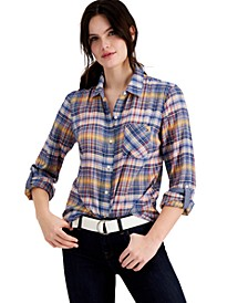 Plaid Roll-Tab Shirt