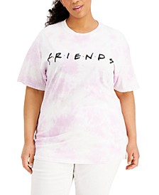 Plus Size Friends Tie-Dyed Graphic T-Shirt