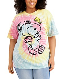 Plus Size Snoopy Tie-Dyed Graphic T-Shirt