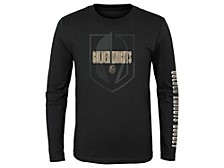 Youth Vegas Golden Knights Maze Long-Sleeve T-Shirt