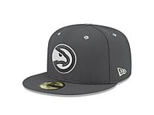 Atlanta Hawks Storm Black White Logo 59FIFTY Cap