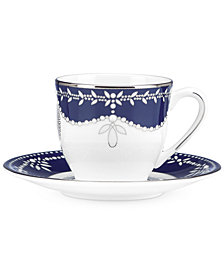 Marchesa by Lenox Empire Pearl Indigo Espresso Cup and Saucer Set
