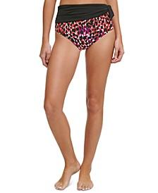 Sash High-Waist Bikini Bottoms