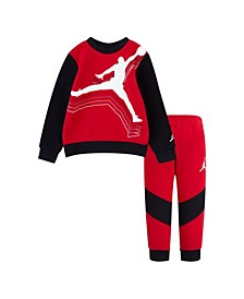 Little Boys Cross Court Crew Top and Pant Set