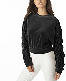 Women's Ruched Sleeve Top