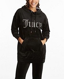 Women's Drop Shoulder Long Hoodie