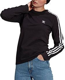 adidas Originals Women's 3-Stripe Long-Sleeve T-Shirt