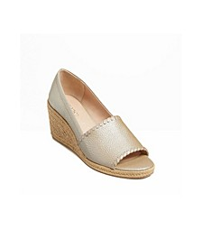 Women's Palmer Wedge Leather Espadrille
