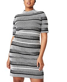 Women's Trendy Plus Size Tahlia True Knit Mini Dress