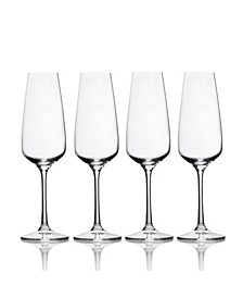 Melody Champagne Flute Set of 4, 9.5 oz