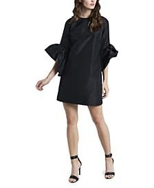 Women's Trumpet Sleeve Taffeta Dress