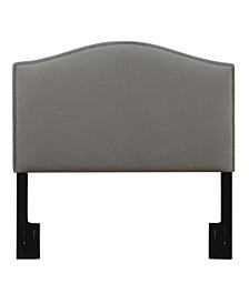 Camel Back Upholstered Headboard, King