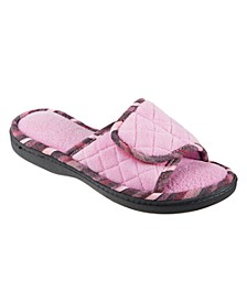 Isotoner Women's Diamond Quilted Mandy Adjustable Slide Slippers