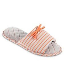 Isotoner Women's Nani Stripe Slide Slippers