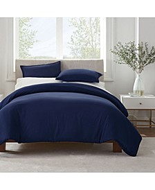 Simply Clean Microbe Resistant King Duvet Set, 3 Piece