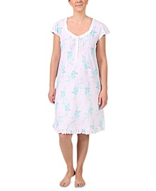 Plus Size Floral-Print Nightgown