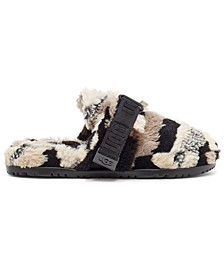 Men's Fluff It Faux-Fur Slippers