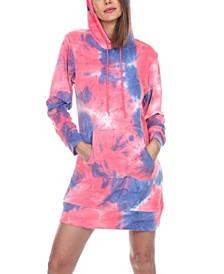 Women's Tie Dye Sweatshirt Dress