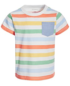 Toddler Boys Multicolor Striped Cotton T-Shirt, Created for Macy's