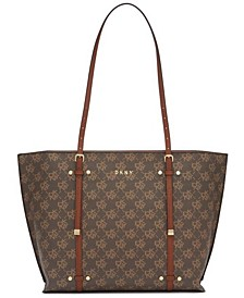 Bo Logo Crosshatched Tote