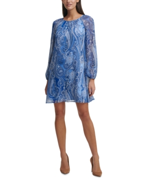 Tommy Hilfiger Dresses PAISLEY-PRINT SHIFT DRESS