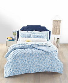 Butterfly Pleat 3-Pc. Full/Queen Comforter Set, Created for Macy's