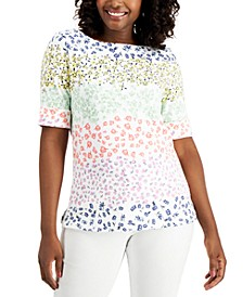 Petite Colorblocked Top, Created for Macy's