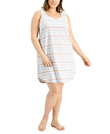 Plus Size Sleeveless Nightgown, Created for Macy's