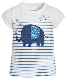 Toddler Girls Elephant Striped Cotton T-Shirt, Created for Macy's