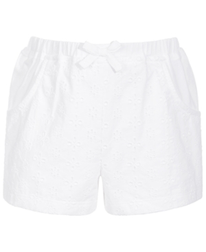 First Impressions TODDLER GIRLS EYELET KNIT COTTON SHORTS, CREATED FOR MACY'S