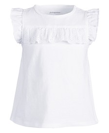Baby Girls Cotton Eyelet Ruffle T-Shirt, Created for Macy's