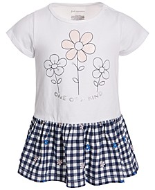 Baby Girls Cotton Floral Gingham Tunic, Created for Macy's