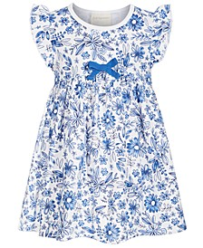 Baby Girls Watercolor Floral Dress, Created for Macy's