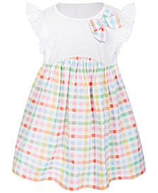 Baby Girls Rainbow Gingham Cotton Dress, Created for Macy's
