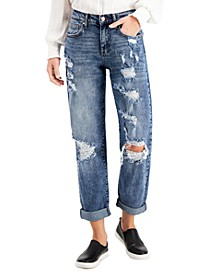Juniors' Distressed Boyfriend Jeans