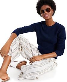 Cashmere Long-Sleeve Crewneck Sweater, Created for Macy's