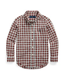 Little Boys Plaid Poplin Shirt