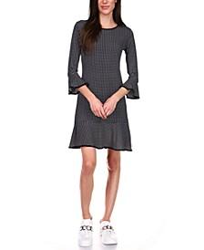 Printed Flounce Shift Dress