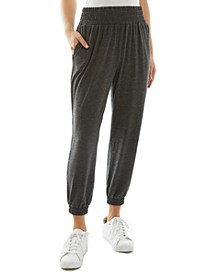 Juniors' Cropped Jogger Pants