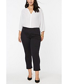 Women's Plus Size Sheri Slim Ankle Jeans with Roll Cuffs