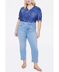 Women's Plus Size Marilyn Straight Sure Stretch Denim Ankle Jeans