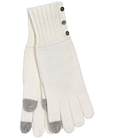 로렌 랄프로렌 Lauren Ralph Lauren Womens 3 Button Knit Glove,Cream