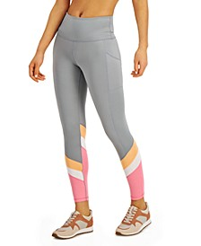 Colorblocked High-Waist 7/8 Length Leggings, Created for Macy's